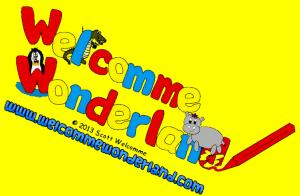 Welcomme Wonderland full logo with background