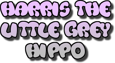 Image of Harris the little grey hippo title from the catchy song of the same name about a cute loveable Hippo that overcomes bullying. Another one of Scott Welcomme's fun songs for kids