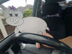 A Hippo driving! What a sight! Another adventure from the famous character Harris the little grey hippo from Scott Welcomme's kids song at Welcomme Wonderland